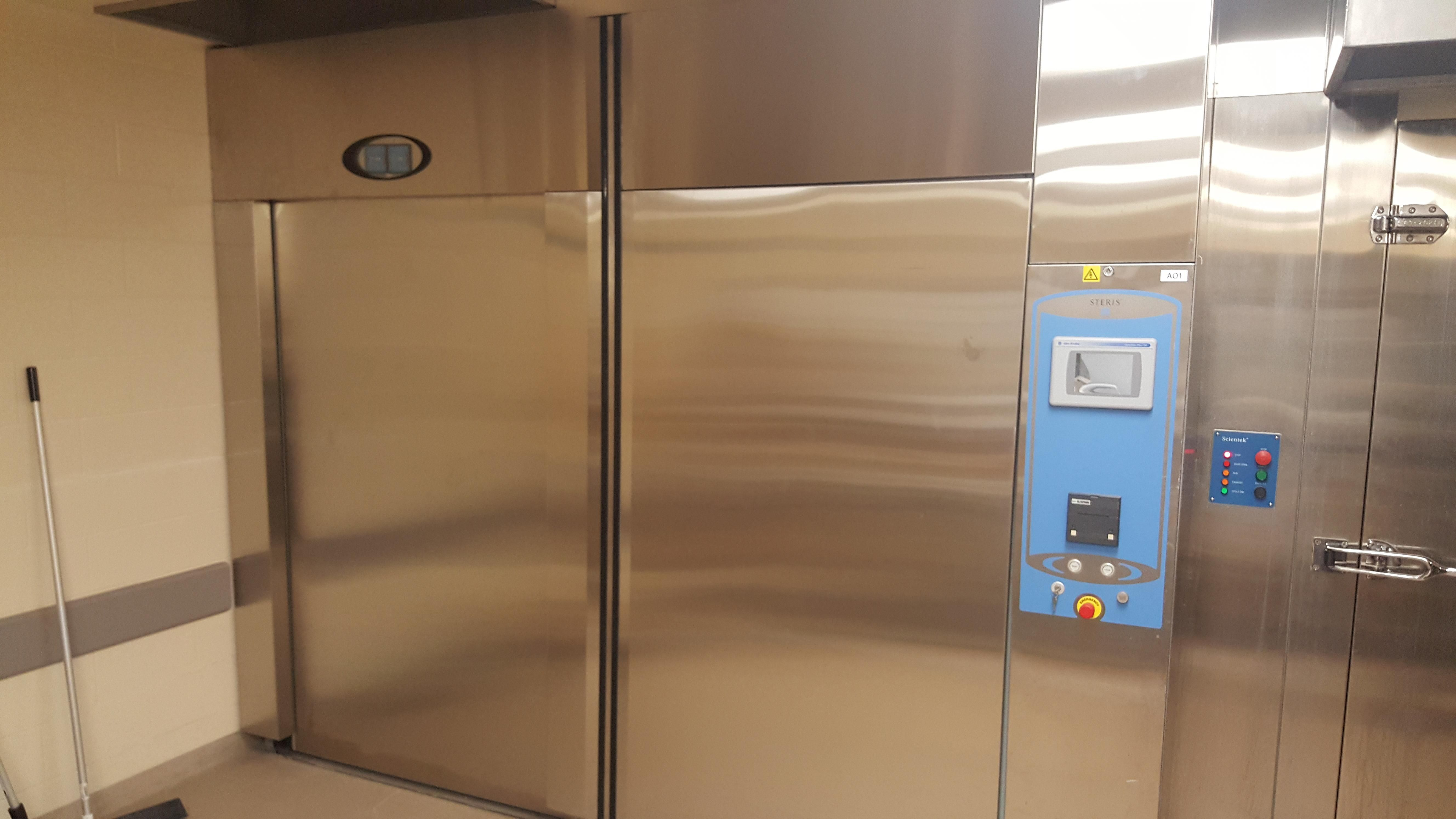 Cage, rack, bottle washer and steam sterilizer