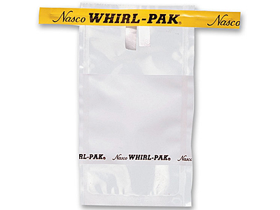 Whirl-Pak, white, 1 ounce, 500 per box, write-on, by Nasco