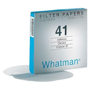 Whatman Filter Circles, Ashless Grade 41, 9cm Diameter