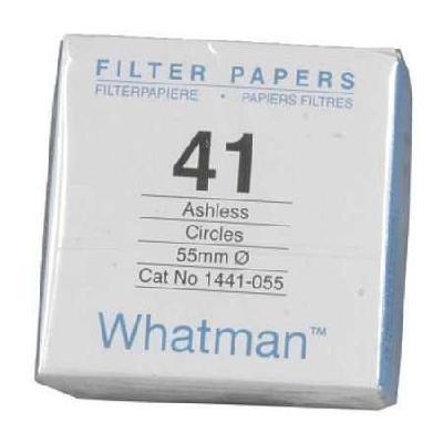 Whatman Filter Circles, 110mm Dia, Ashless Grade 41, 100/pk