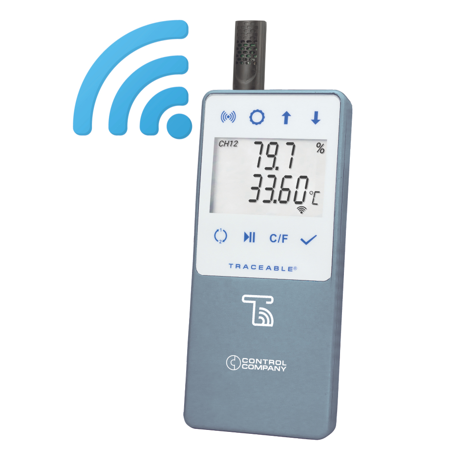 TraceableLIVE WiFi Datalogging Hygrometer with Remote Notification, Ambient Sensor