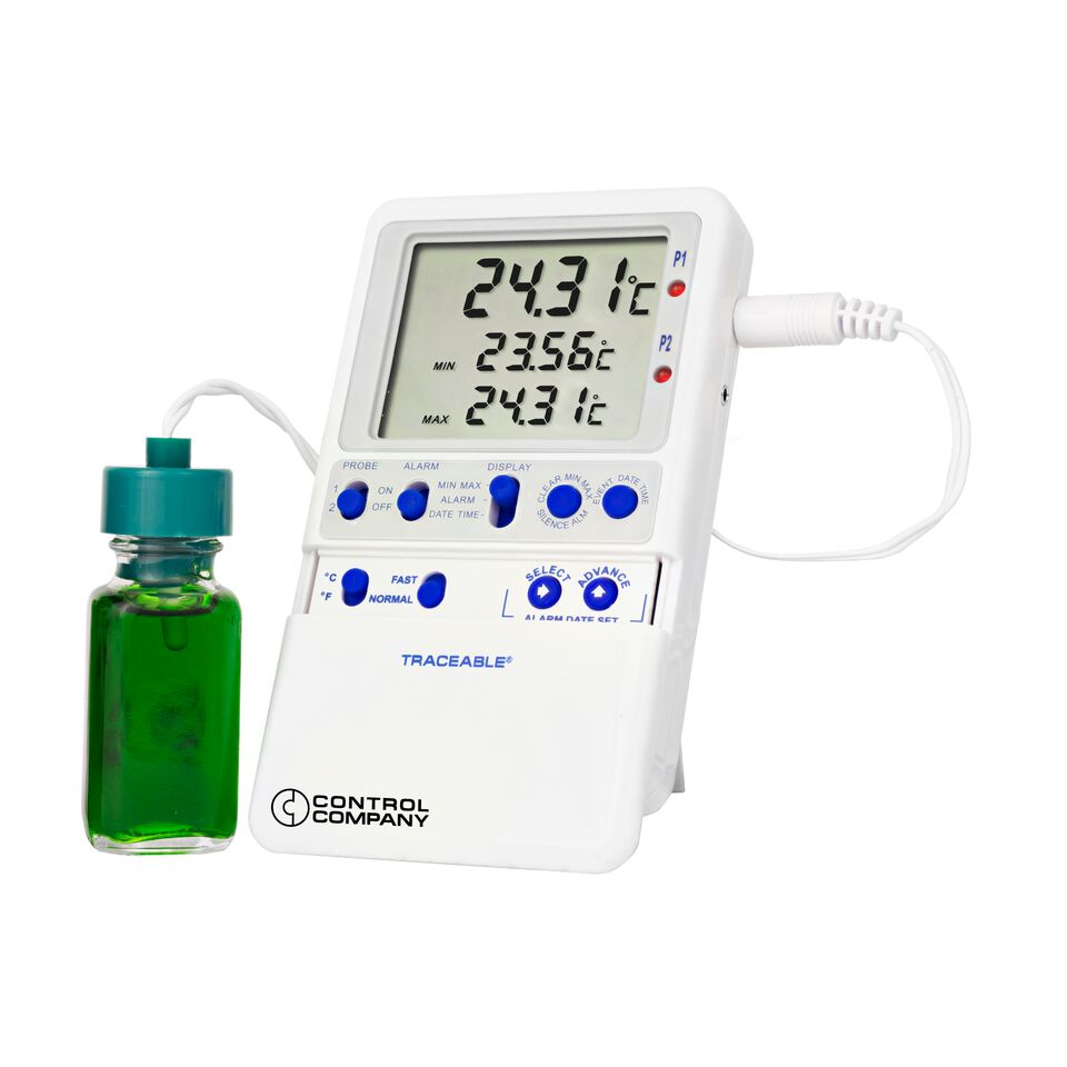 Traceable Hi-accuracy Refrigerator Thermometer, 1 bottle probe