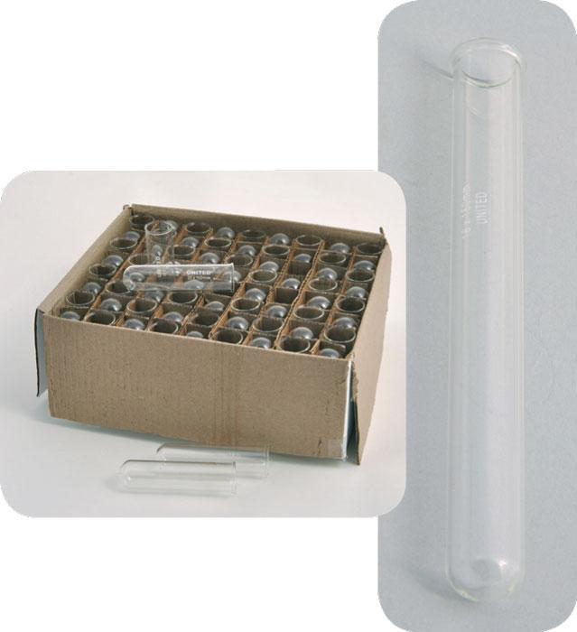 Test Tubes with Rim, Borosilicate Glass
