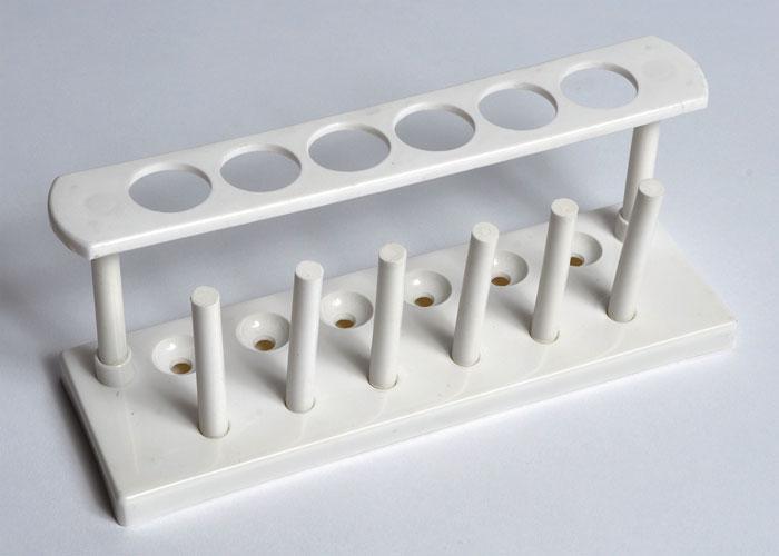 Test Tube Rack, Plastic, 6-Tube, Unassembled