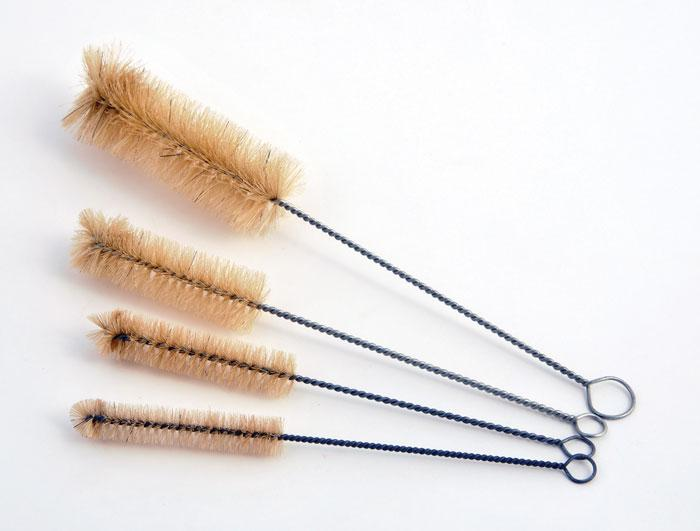 TEST TUBE BRUSH, NATURAL BRISTLES