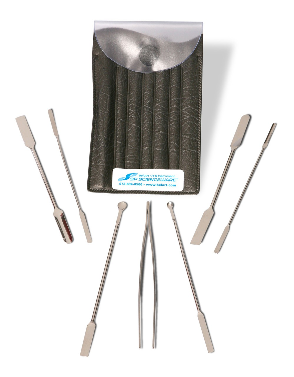 Stainless Steel Micro Spoon and Spatula Weighing Set (7 pieces)