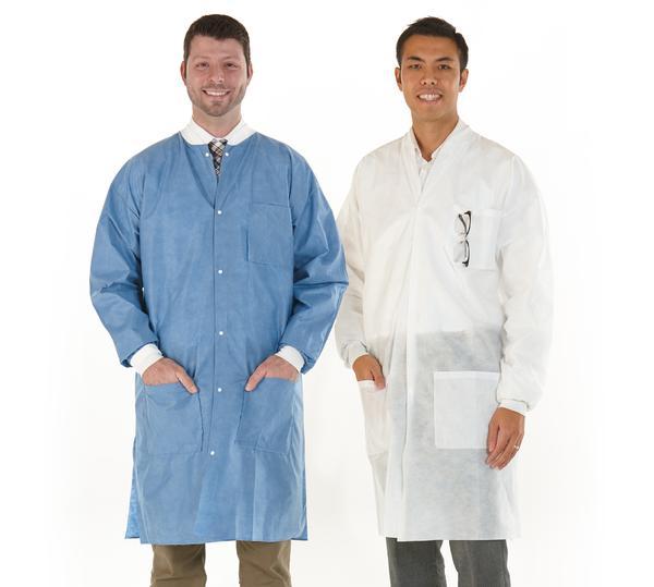 Medicom Safewear High Performance Lab Coats, 12/pack