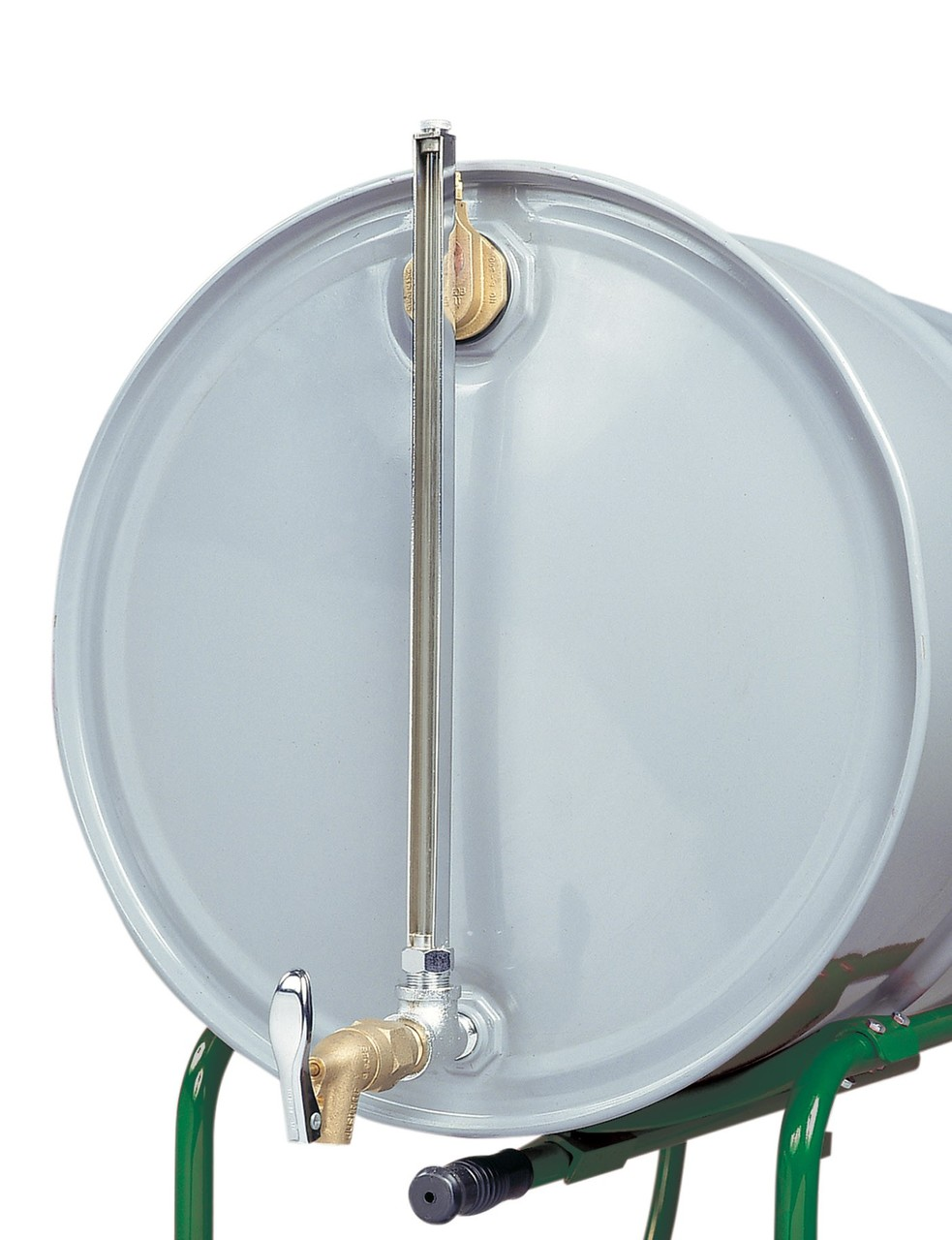 Horizontal Fill Drum Gauge with Self Closing Faucet