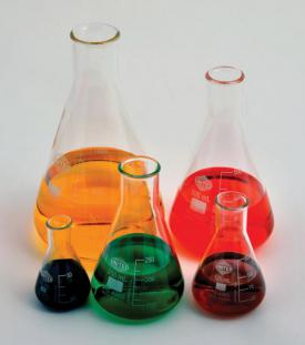 ERLENMEYER FLASK, NARROW MOUTH, BOROSILICATE GLASS