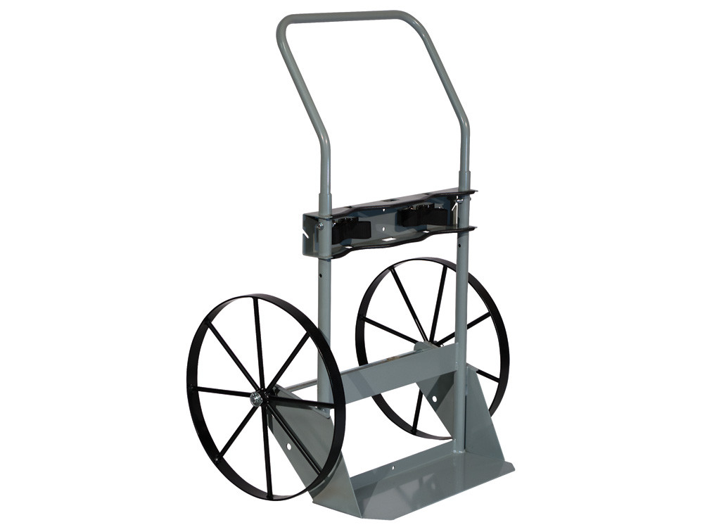 Double Cylinder Hand Truck, 20 Inch Steel Wheels