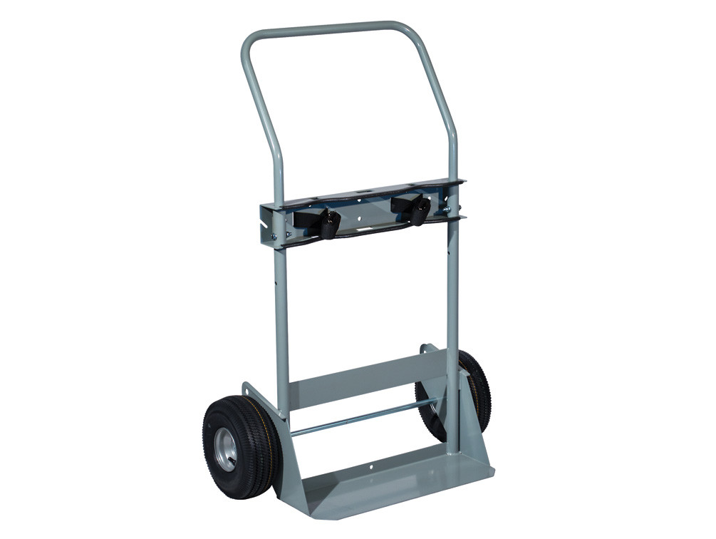 Double Cylinder Hand Truck, 10.5 Inch Pneumatic Wheels