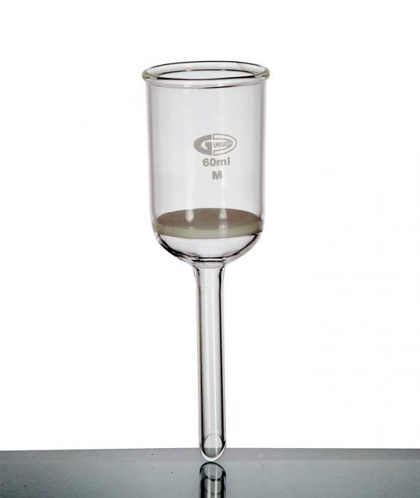 BUCHNER FUNNEL WITH FRITTED DISC, BOROSILICATE GLASS