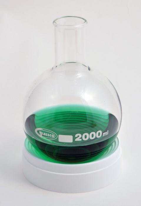 BOILING FLASK, ROUND BOTTOM, BOROSILICATE GLASS
