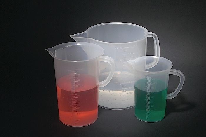 BEAKERS WITH HANDLE, TALL FORM, PP