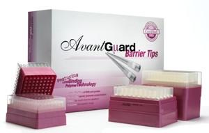 AvantGuard 300uL Long Barrier Sterile Tip -Racked #AV300, Lift -off Lid