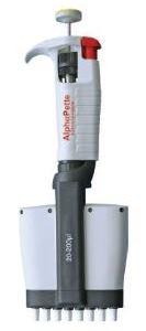 Alphapette Plus Multichannel Pipettor, 8 channel, 5-50ul