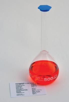 1L Volumetric Flask with Snap Cap