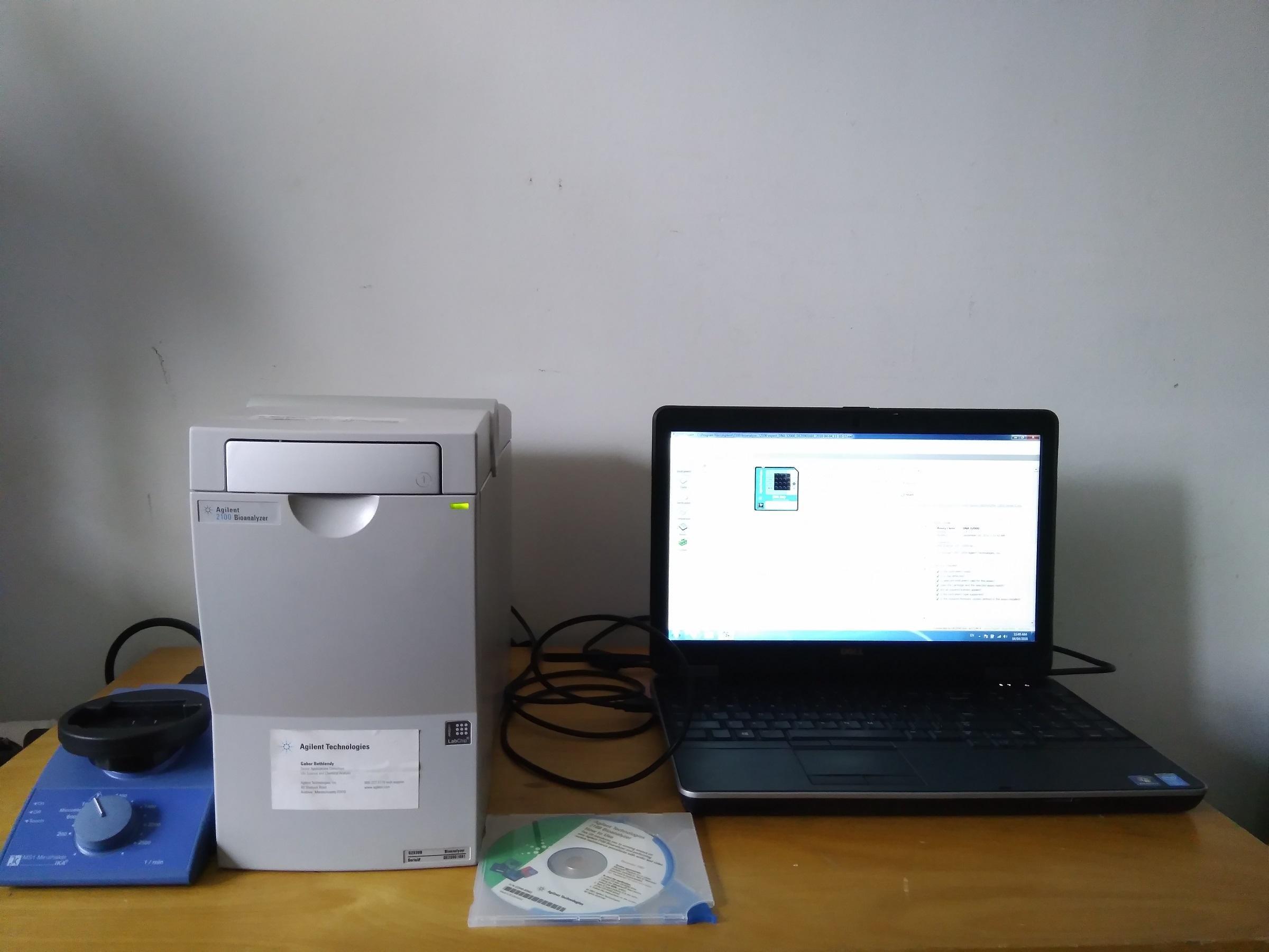 Agilent 2100 Bioanalyzer G2938B + Softwares + Chip Vortexer + NEW Electrode Cartridge