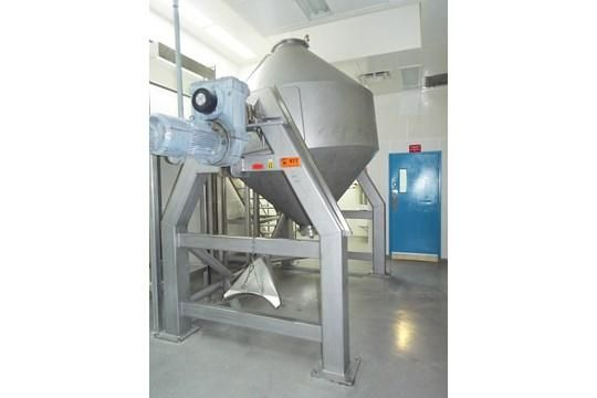 A&M Process Equipment ACB-1000 Stainless Steel Double Cone Blender