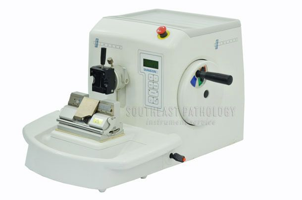 Shandon Finesse ME automatic microtome, refurbished, 1 year warranty- Southeast Pathology Instrument Service