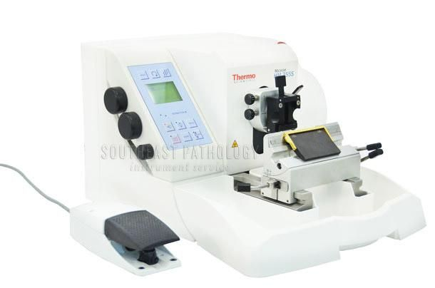 Microm HM355S-3 automatic microtome, refurbished, 1 year warranty- Southeast Pathology Instrument Service