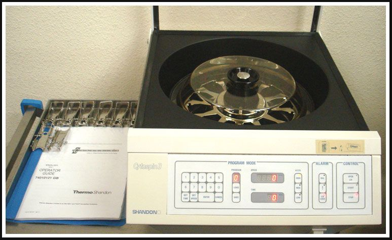 Shandon Cytospin 3 with Rotor & 6 Cytoclips w WARRANTY