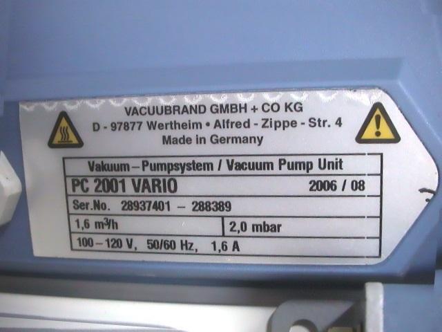 Vacuubrand PC2001 Pump with CVC 2000 II Controller