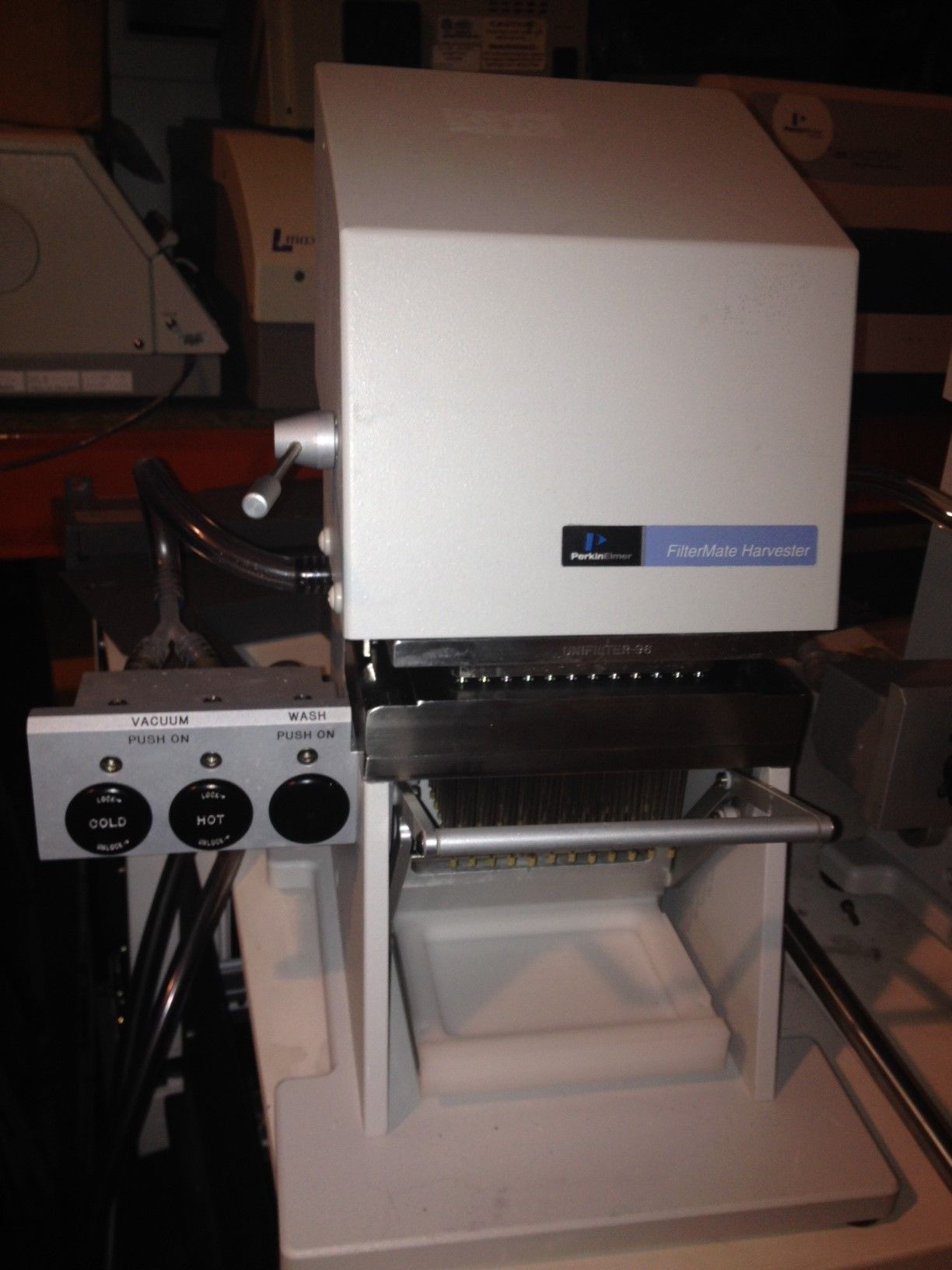 Perkin Elmer Filtermate 96-well cell harvester