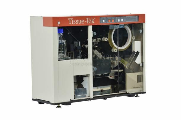 Sakura Tissue Tek SCA tape coverslipper (red), refurbished with warranty- Southeast Pathology Instrument Service