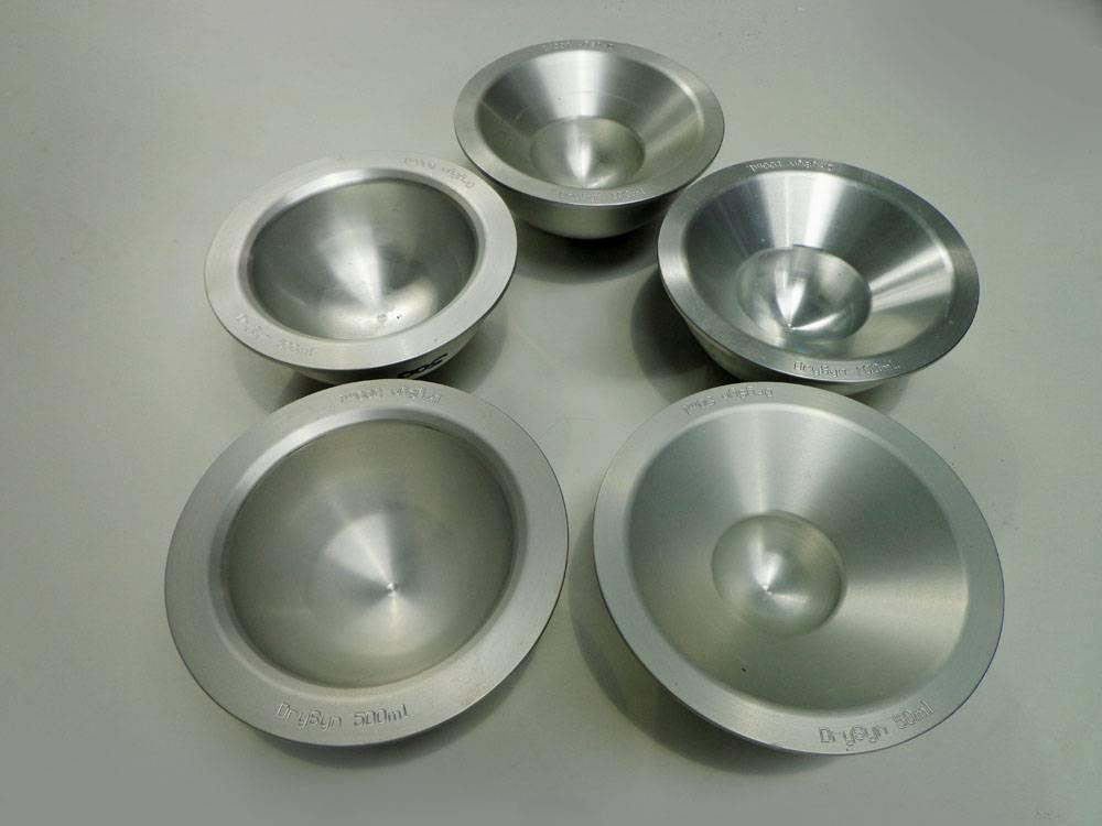 DrySyn Wax bowls 2x500ml, 2x100ml and single 50ml (5off total). (WA12825)