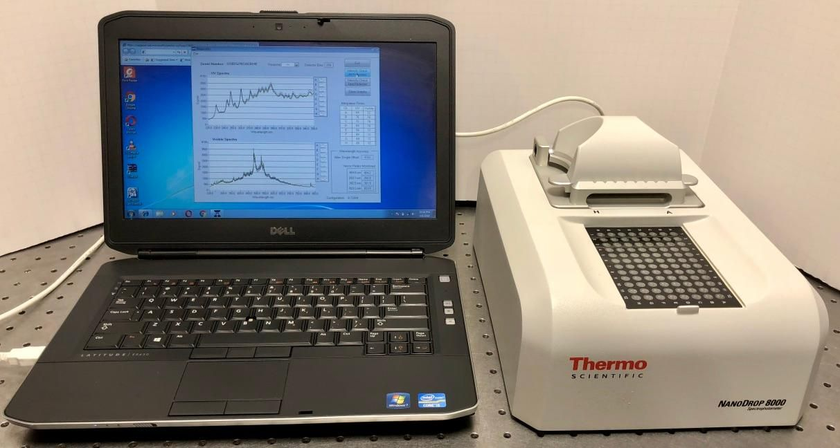 Thermo Nanodrop 8000 system with Laptop