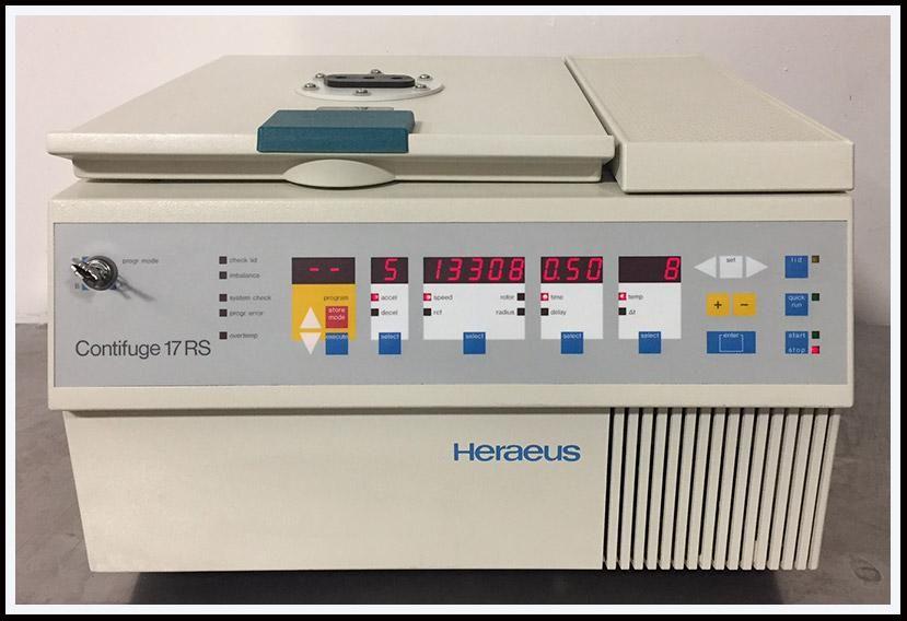 Heraeus Centrifuge Microfuge Biofuge Contifuge 17RS  2.0ml w WARRANTY