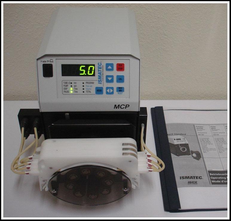 ISMATEC MCP Standard Peristaltic Programable Cassette Pump w WARRANTY