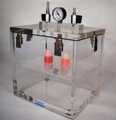 Cleatech Vacuum Desiccator, 1300-1-H/I Series Single Door, Clear Acrylic