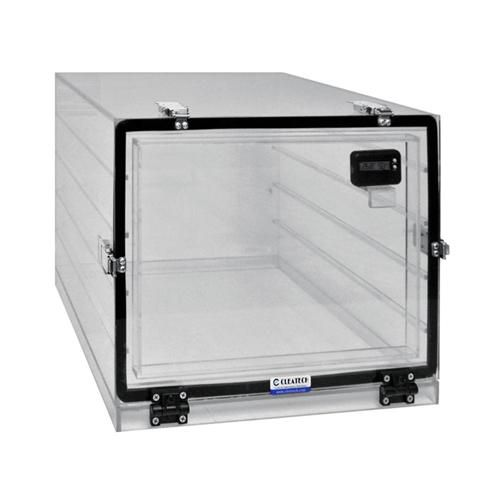 Cleatech 1400-1-V/W Series One Door Desiccator Cabinet Clear Acrylic