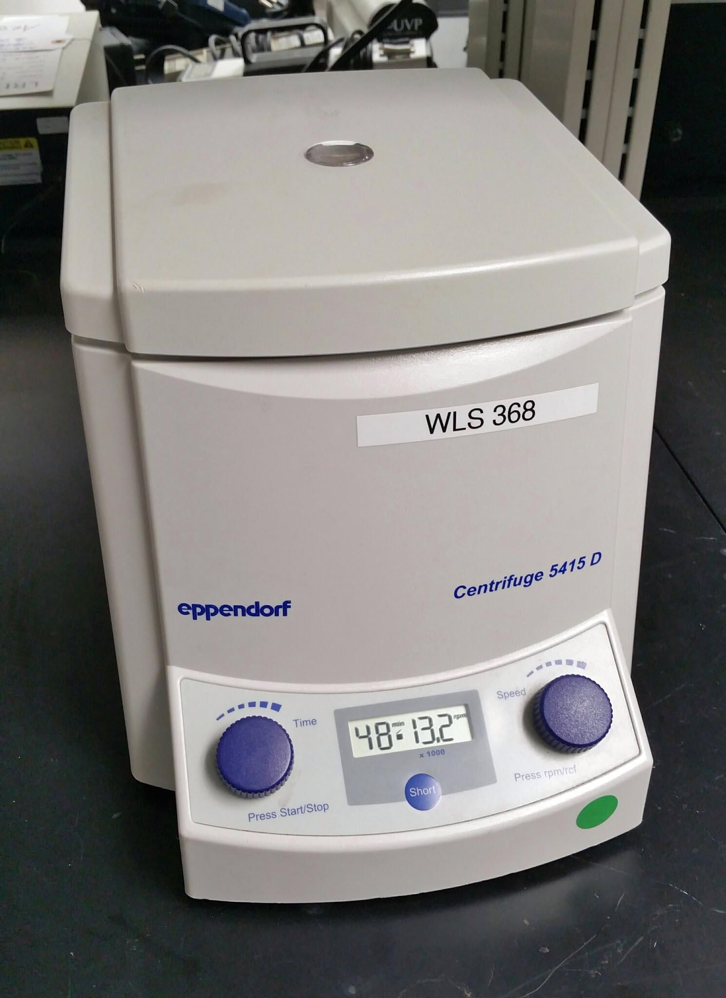 Microcentrifuge:  Eppendorf 5415D with rotor (24 x 1.5/2ml) 30 day warranty and free shipping