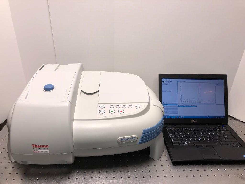 Evolution 201 Dual Beam UV - VIS Spectrometer