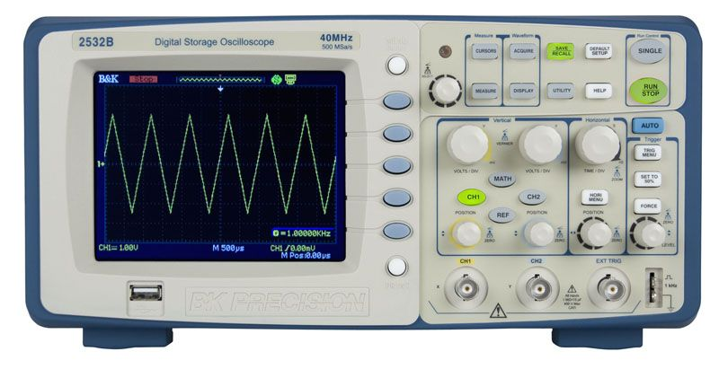 B&K Precision 2530B 25 MHz, 500 MSa/s Digital Storage Oscilloscope