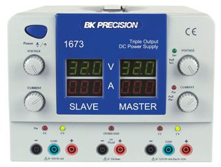 B&K Precison Model 1673 Quad Display Triple Output DC Power Supplies