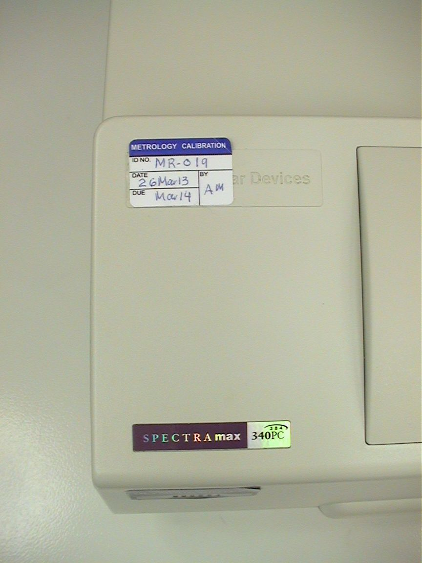 Molecular Devices SpectraMax 340PC 384 Spectrophotometer including computer and software