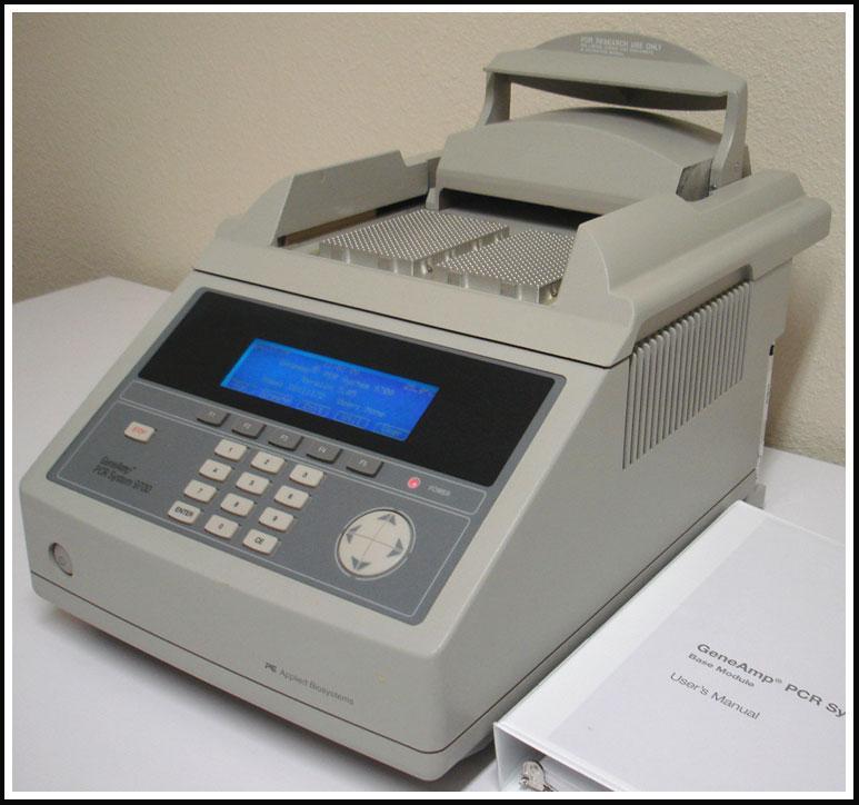 ABI GeneAmp 9700 Dual 96 Block Thermal Cycler PCR Machine  w WARRANTY