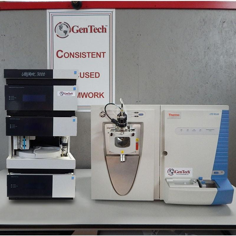 Thermo Scientific LTQ Velos MS/MS with Dionex HPLC