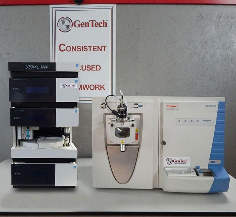 Thermo LTQ Velos Pro and Dionex HPLC