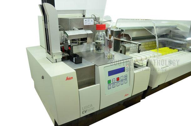 Leica ST5010 Autostainer XL/CV5030 coverslipper combination 1 year warranty- Southeast Pathology Instrument Service