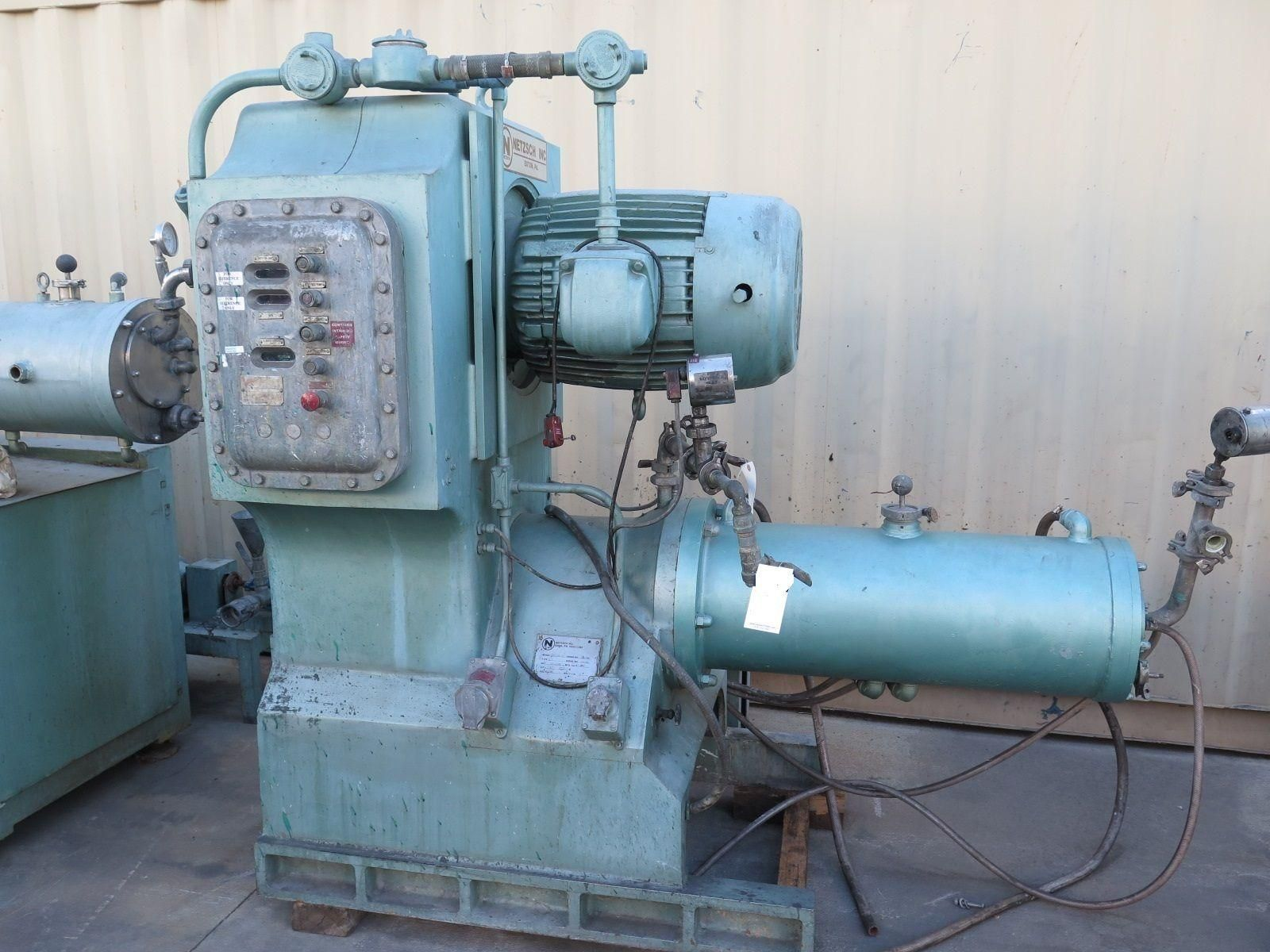 NETZSCH Model LMC60 (E) Grinding Media Mill 57 Liter Jacketed Chamber 50 HP 1989