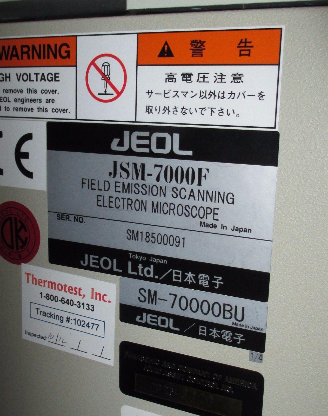 Jeol JSM 7000F SEM Field Emission Scanning Electron Microscope