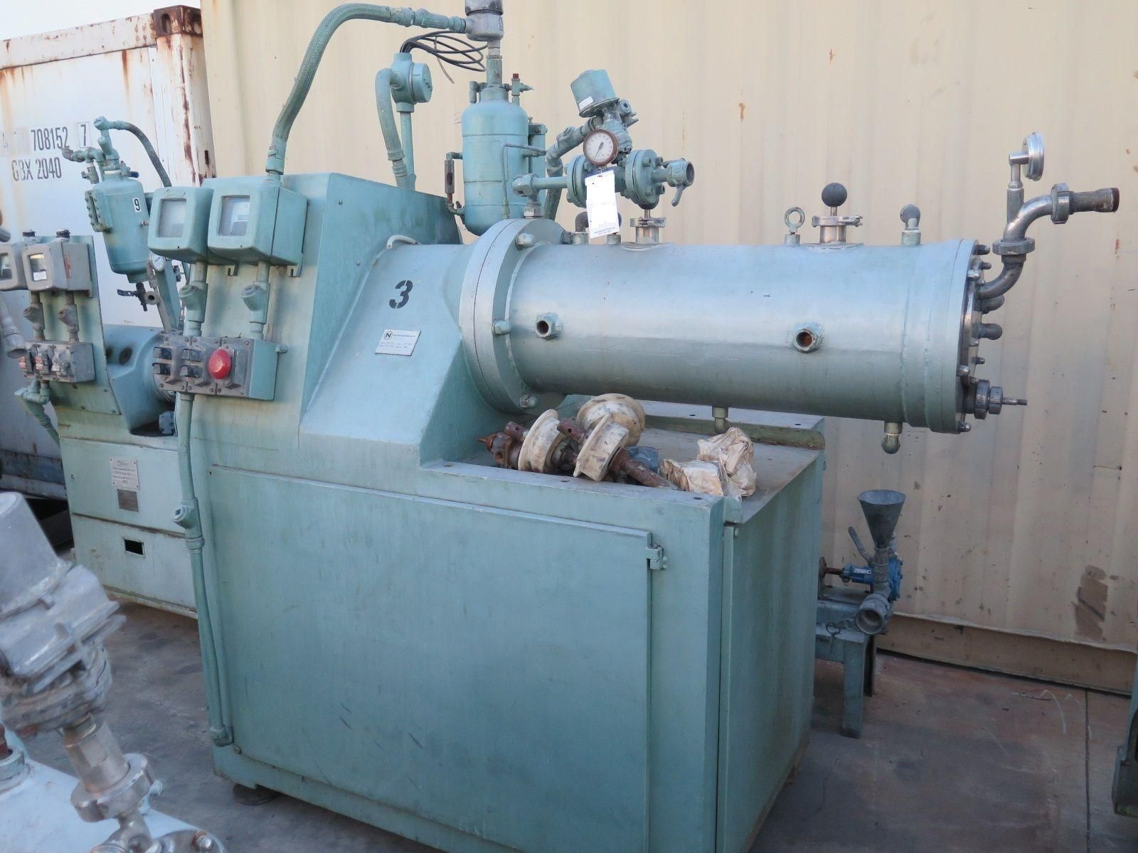 NETZSCH Model LME 50 Horizontal Grinding Media Mill 50 Liter