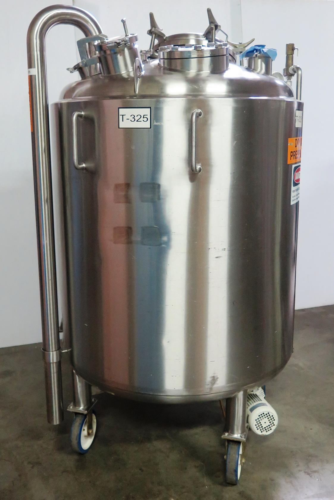 Precision Stainless 1000 Liter Jacketed Pressure Vessel Bioreactor Bottom Agitator