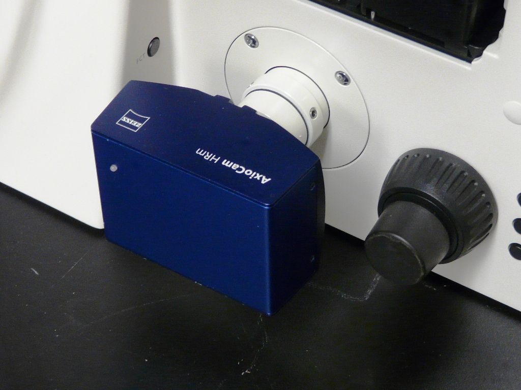 ~ ZEISS AXIOVERT 200 M INVERTED MICROSCOPE WITH AXIOCAM & ATTOARC SYSTEM
