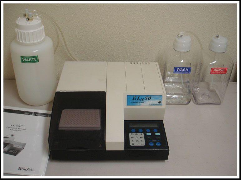 Bio-Tek Elx50 Microplate Strip Washer ELISA w WARRANTY
